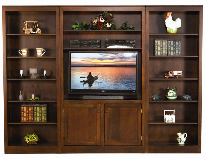 Image of: Wall Unit Bookcase and TV
