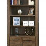 Walnut Bookcase with Drawers