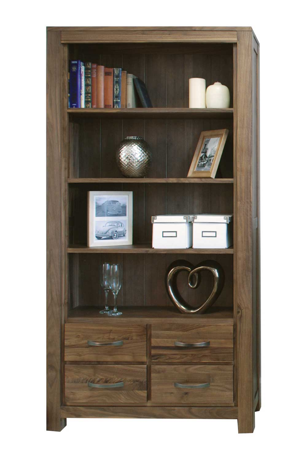Image of: Walnut Bookcase with Drawers