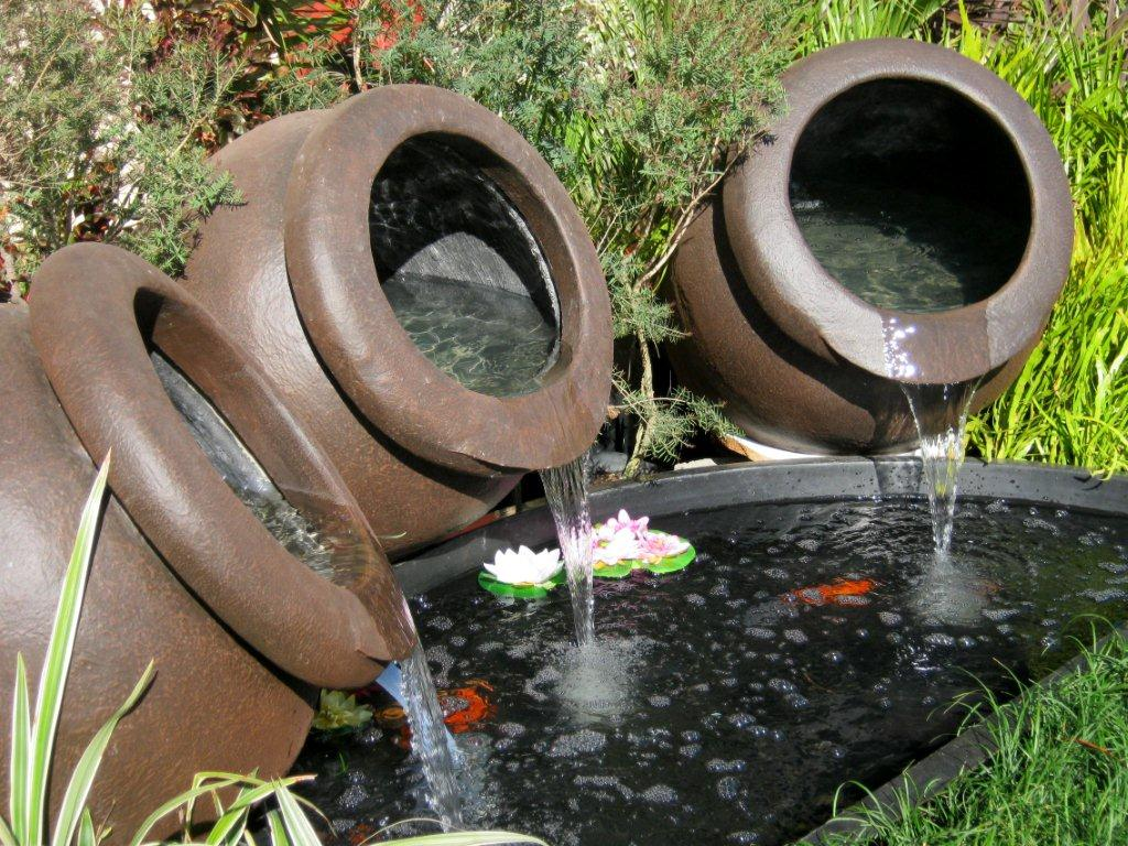 Image of: Water Fountain Pots Planter