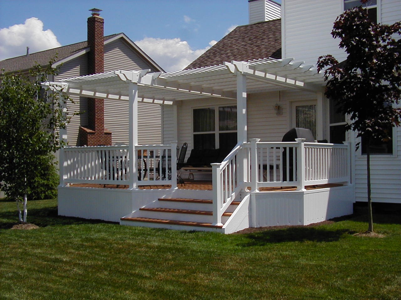White Deck Railing Spindles