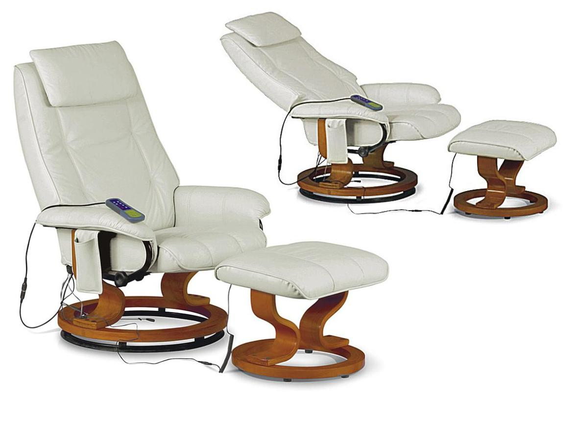 Image of: White Leather Rocker Recliner