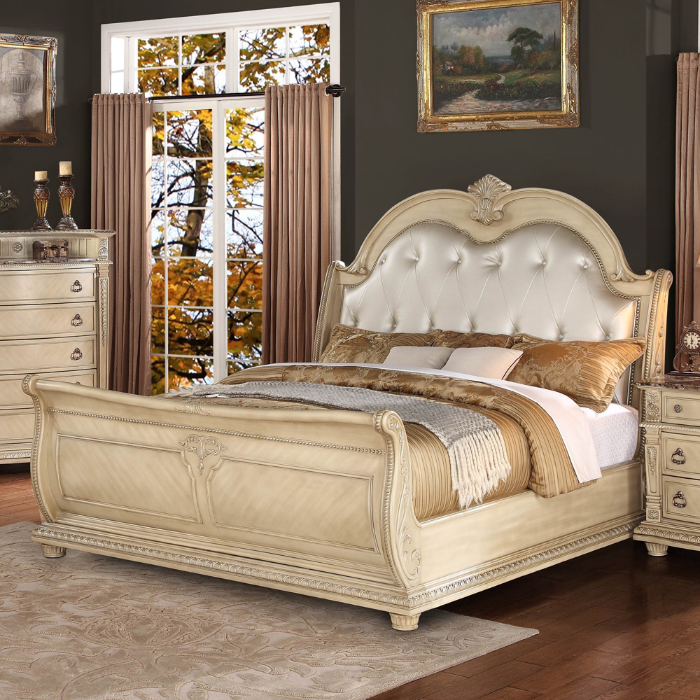 White Mahogany Bedroom Set