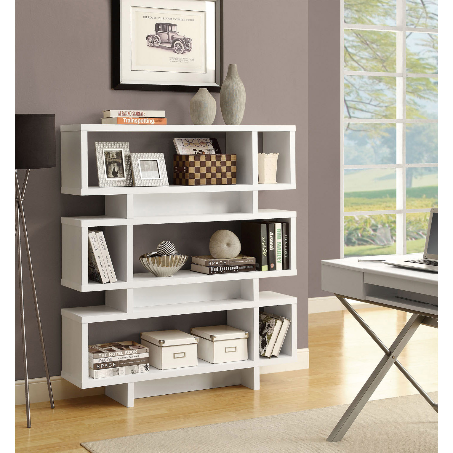 Image of: White Modern Bookcase