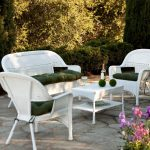 white outdoor wicker chairs