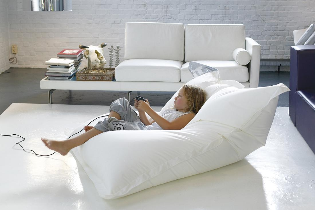 white oversized bean bag chairs