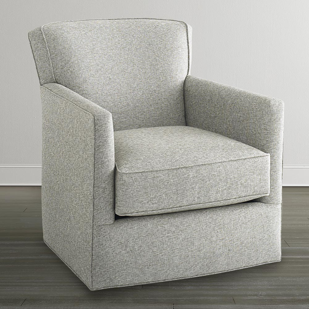 Image of: white swivel glider chair