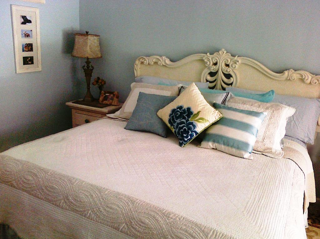 Image of: White Throw Pillows For Bed