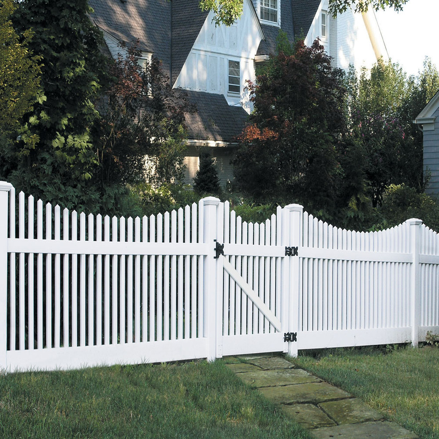 Image of: White Vinyl Deck Railing