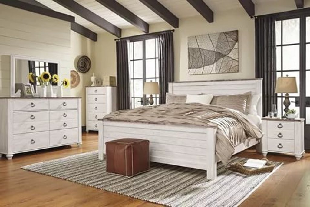 Whitewash Wood Bedroom Furniture