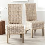 wicker dining chairs ideas