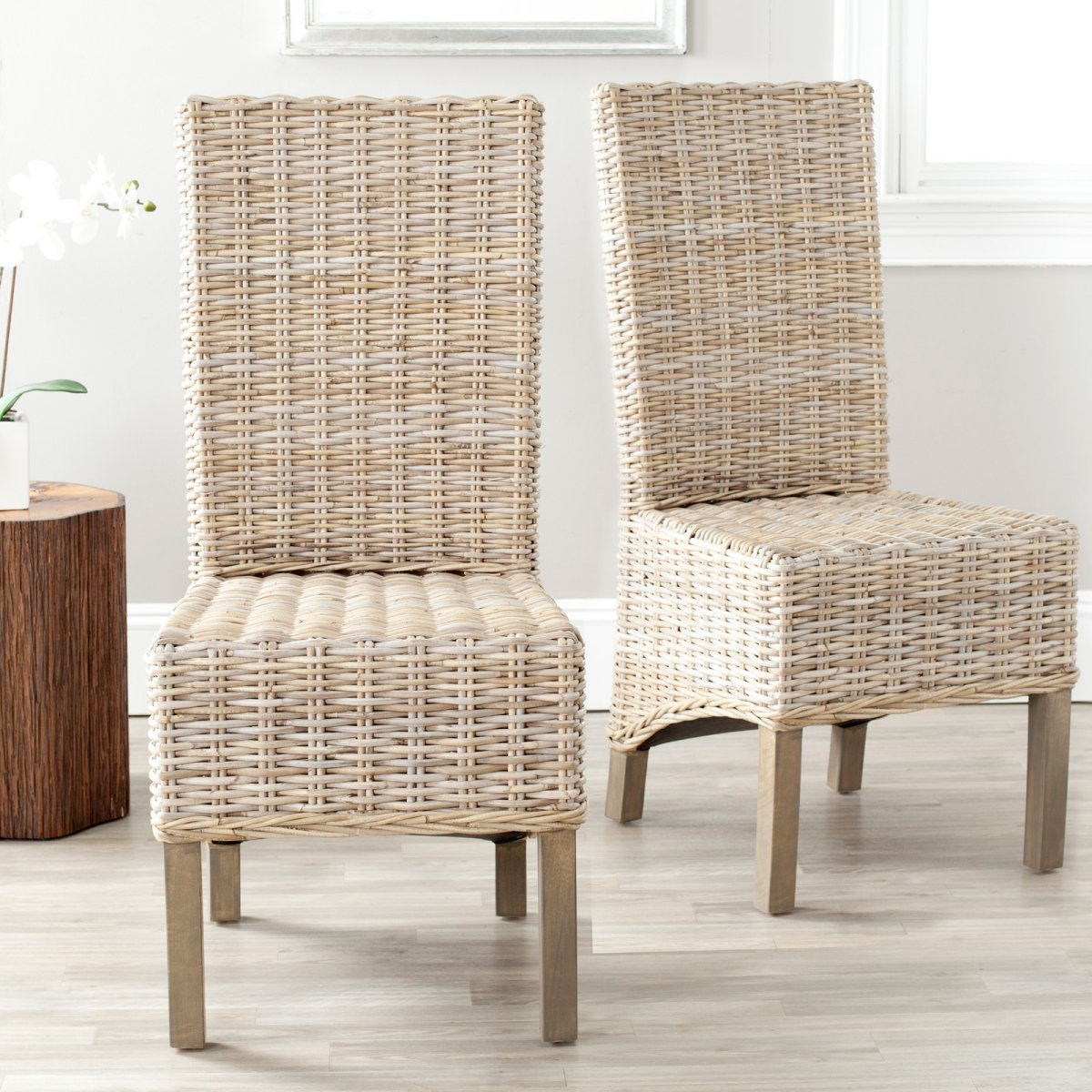 Image of: wicker dining chairs ideas