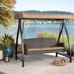 Wicker Outdoor Glider with Canopy