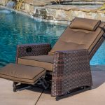 wicker outdoor recliner chair