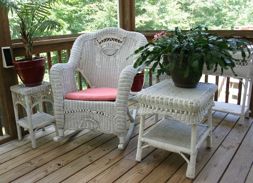 Image of: wicker rocking chair big lots