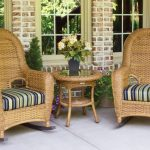 wicker rocking chair bistro set