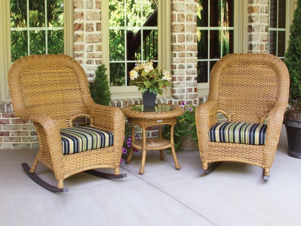 Image of: wicker rocking chair covers