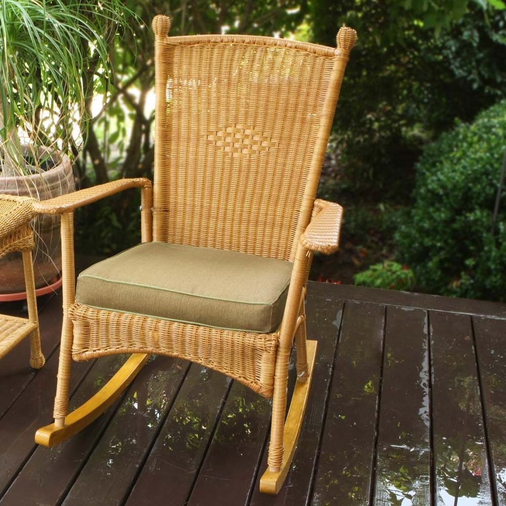 Image of: Wicker Rocking Chair Design