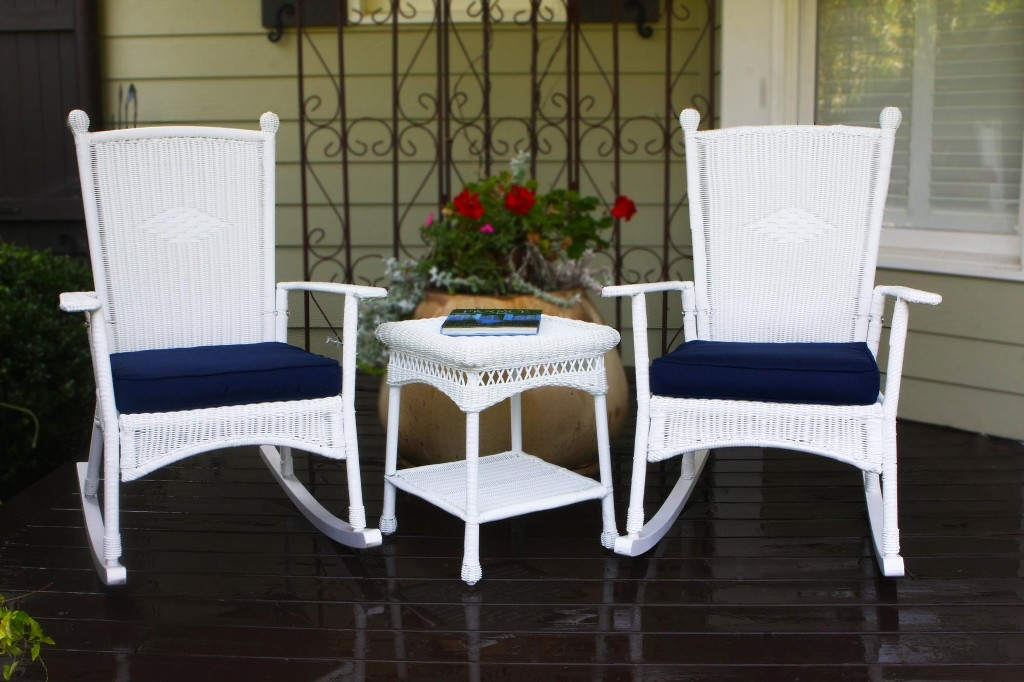 Image of: wicker rocking chair outdoor