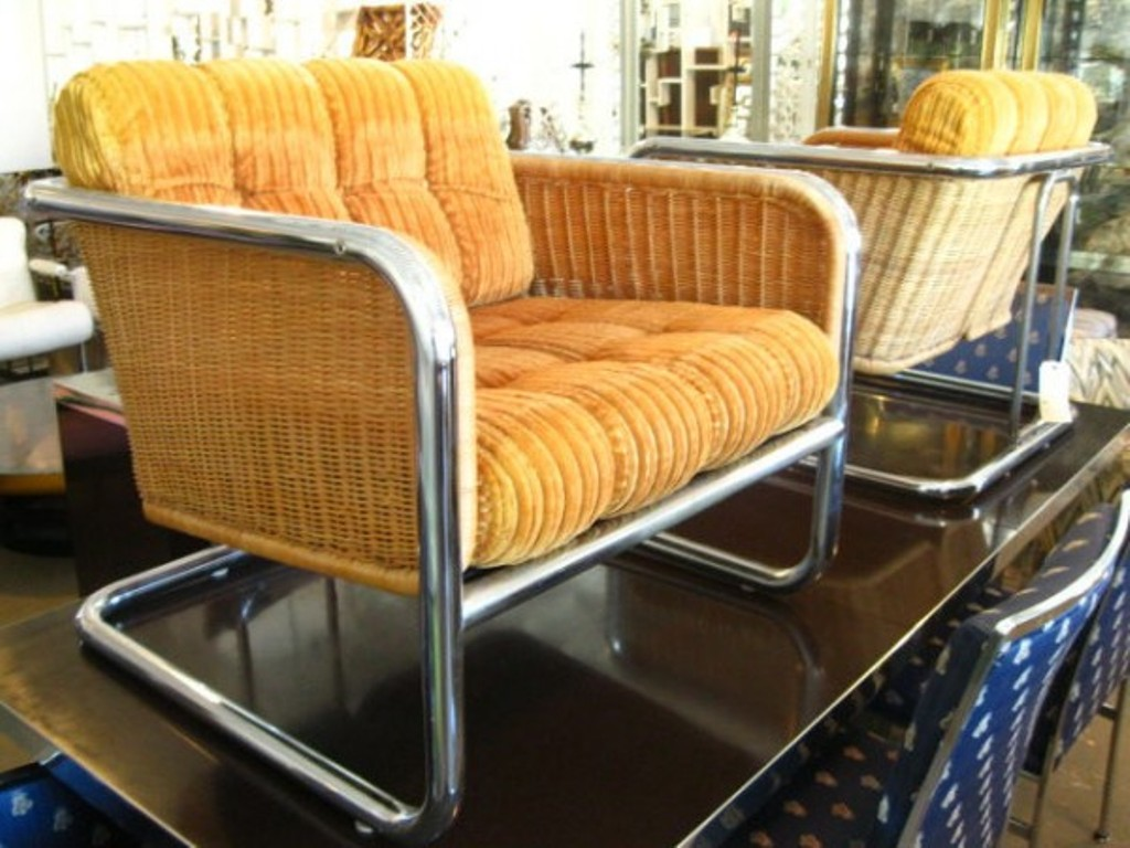 Image of: wicker rocking chair pads