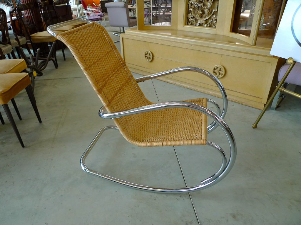 Image of: wicker rocking chair repair