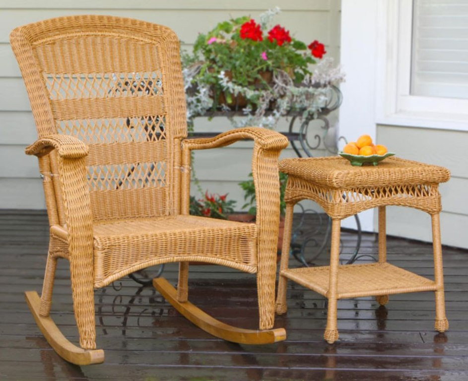 Image of: wicker rocking chair replacement cushions