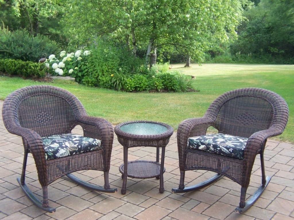 Image of: wicker rocking chair runners