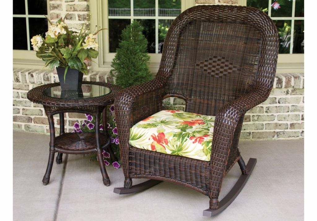 Image of: wicker rocking chair for sale