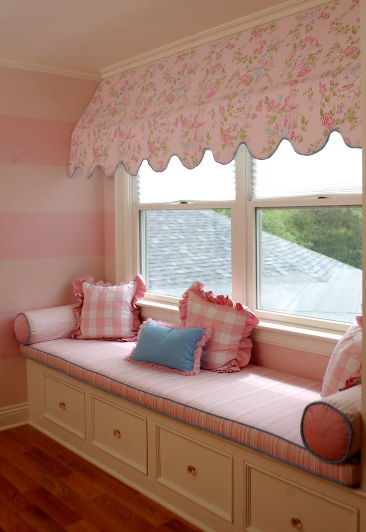 Image of: Window Awning Fabric Pink