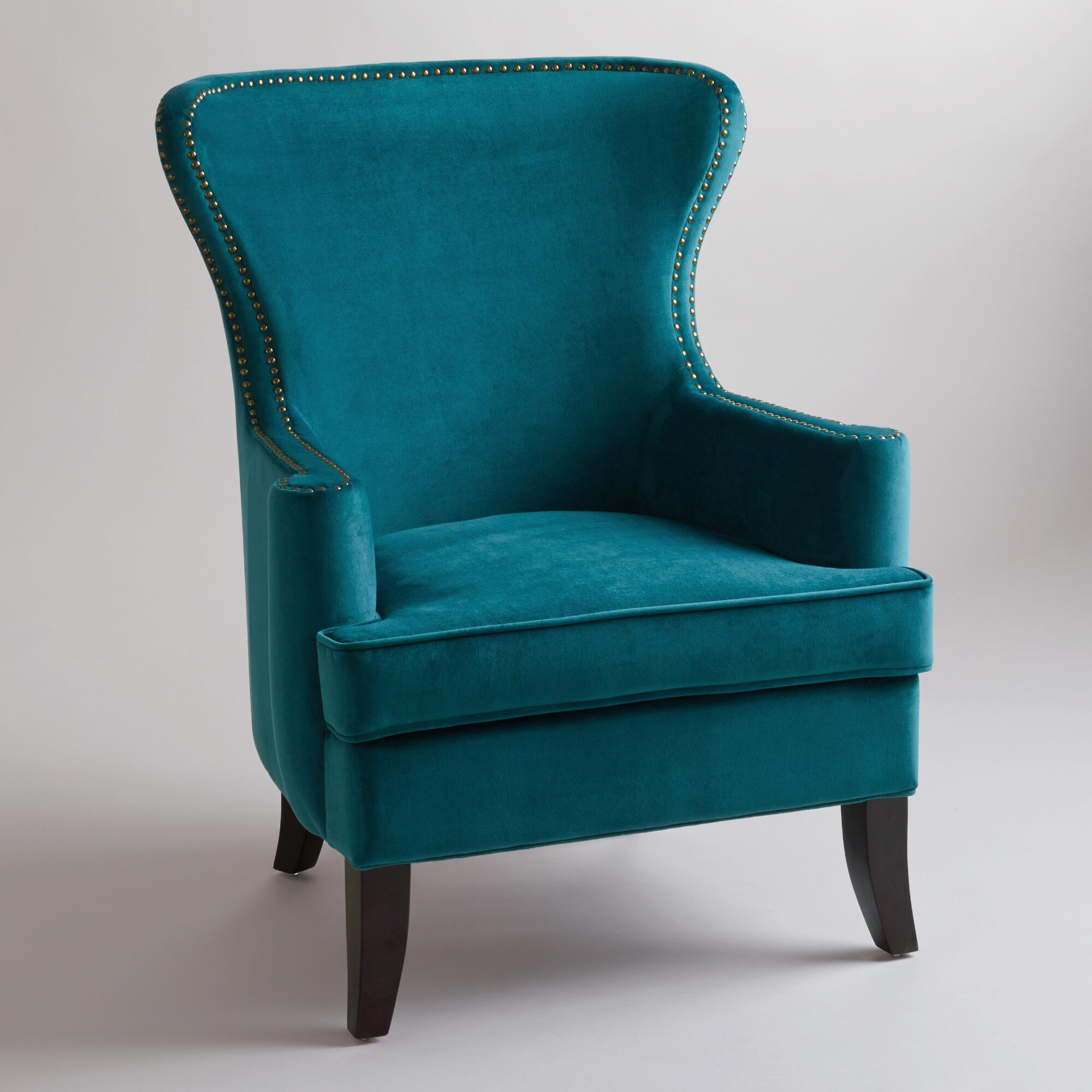 Image of: Wingback Dining Chair Blue