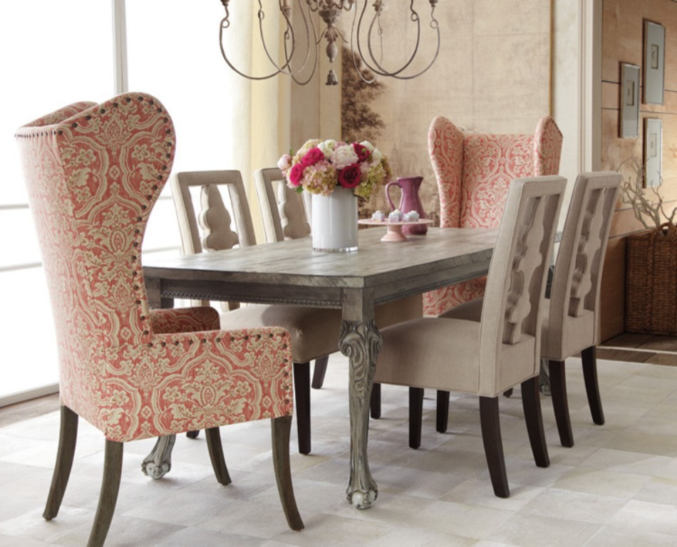 Image of: wingback dining chair pads