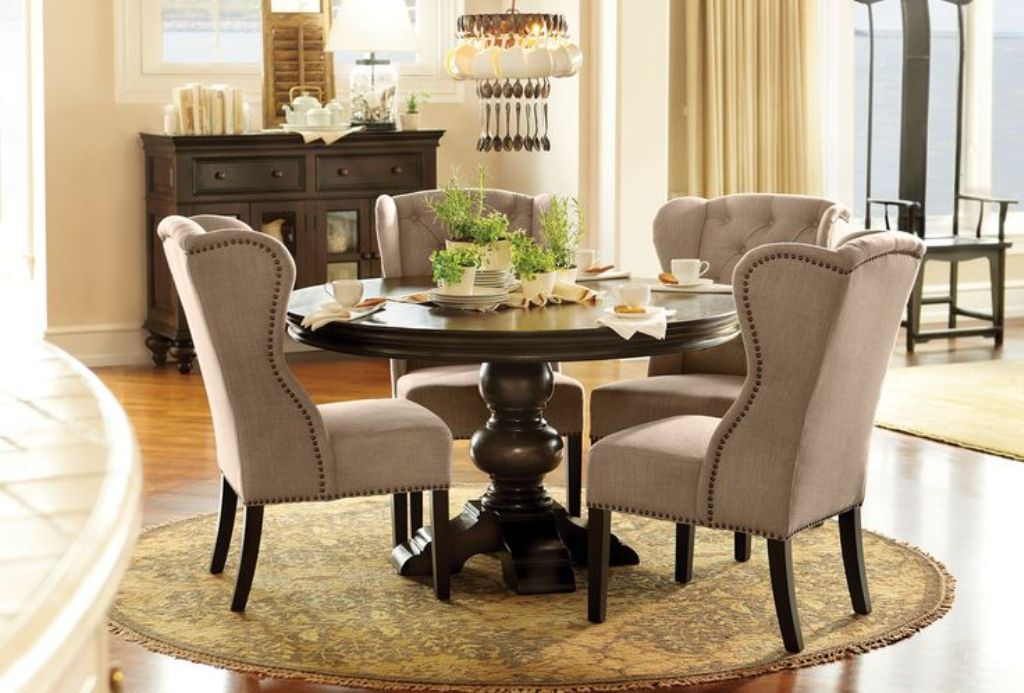 Image of: wingback dining chair seat