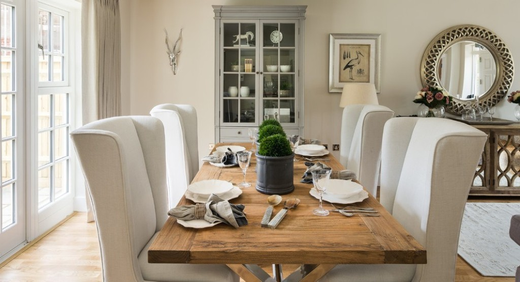 Image of: wingback dining chair slipcovers