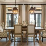 wingback dining chair and bench