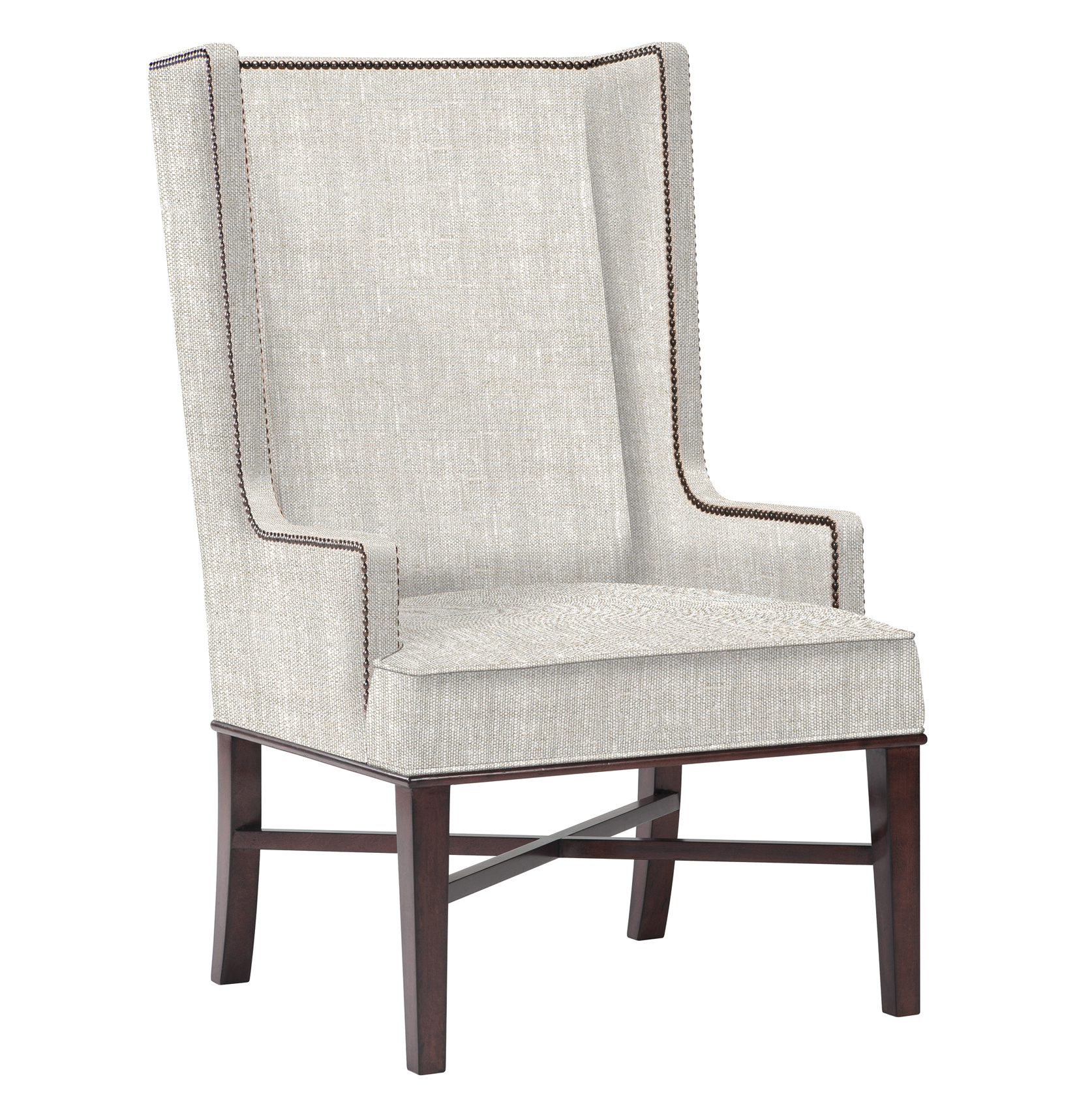 Image of: Wingback Dining Chair with Arms