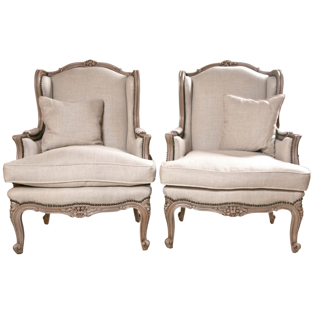 Image of: Wingback Dining Chair with Nailhead