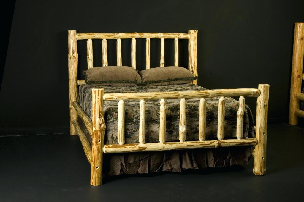 Image of: Wood Bed Frame Amish