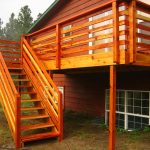 Wood Deck Railing Ideas Colors