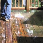 Wood Deck Stain Removal off Concrete