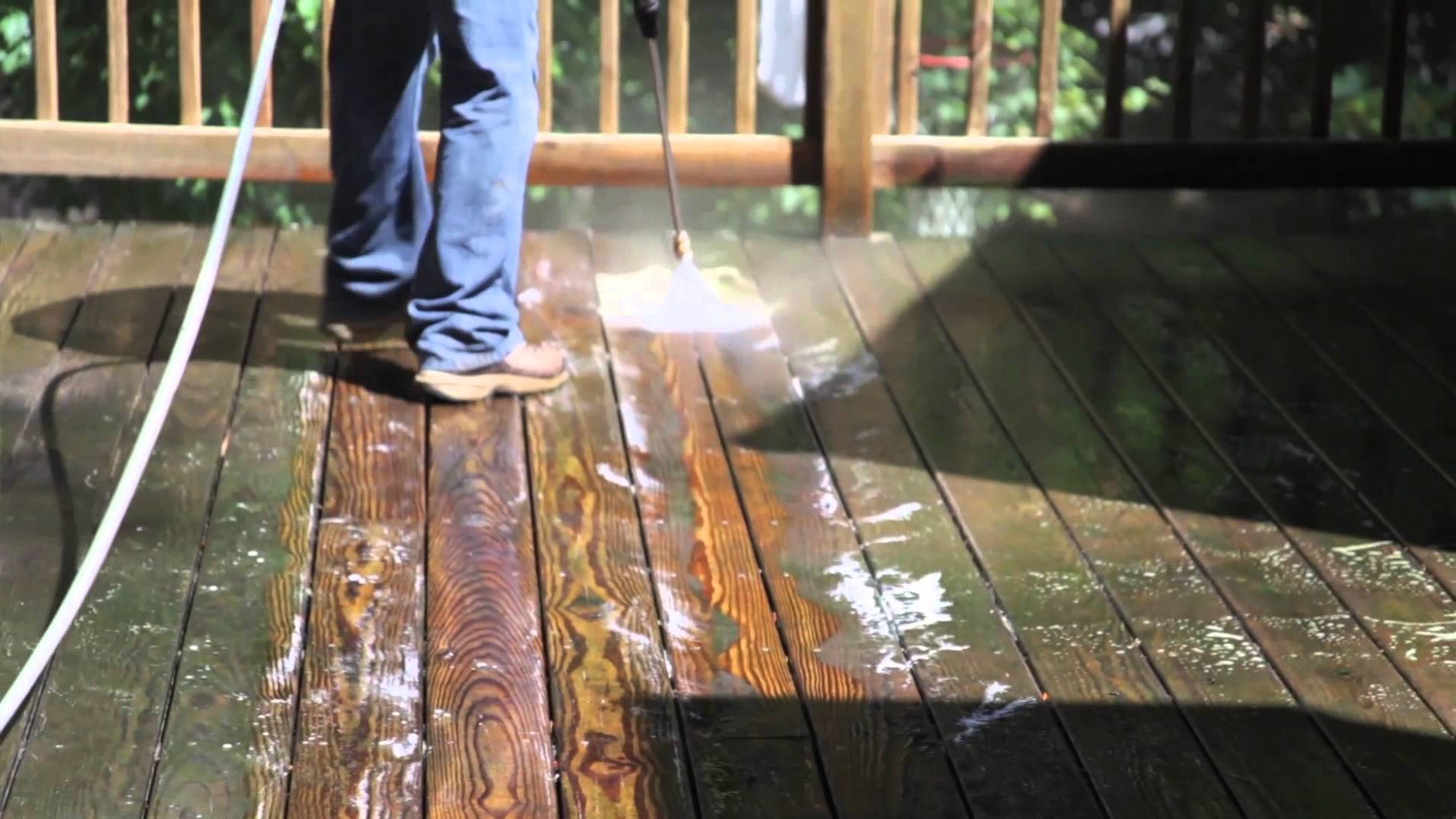 Image of: Wood Deck Stain Removal off Concrete