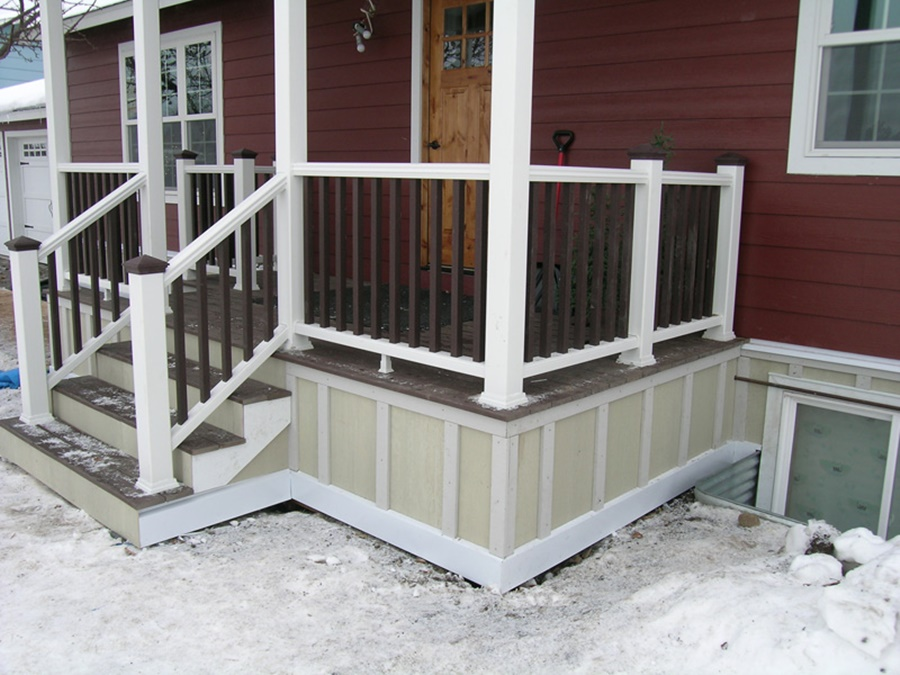 Image of: Wood Deck Underpinning