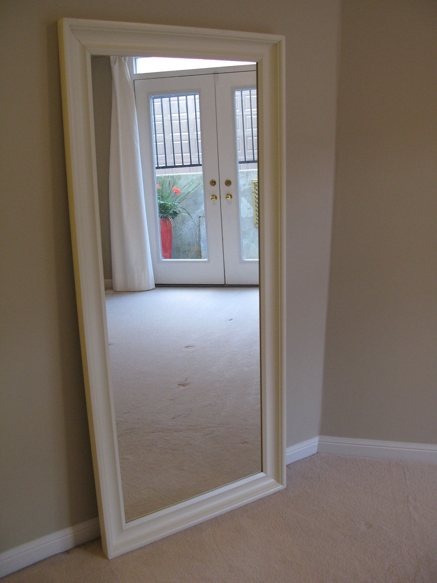 Image of: Wood Frame Full Length Mirror White