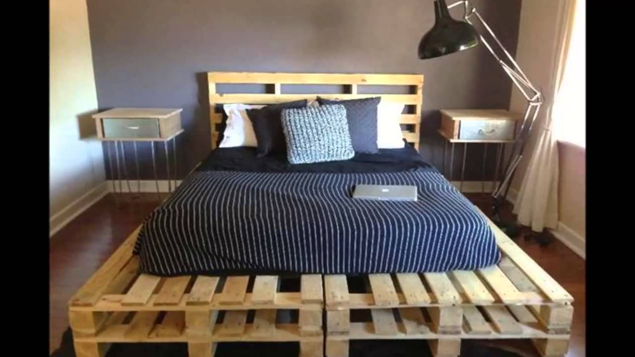 Image of: Wood Pallet Bed Plans