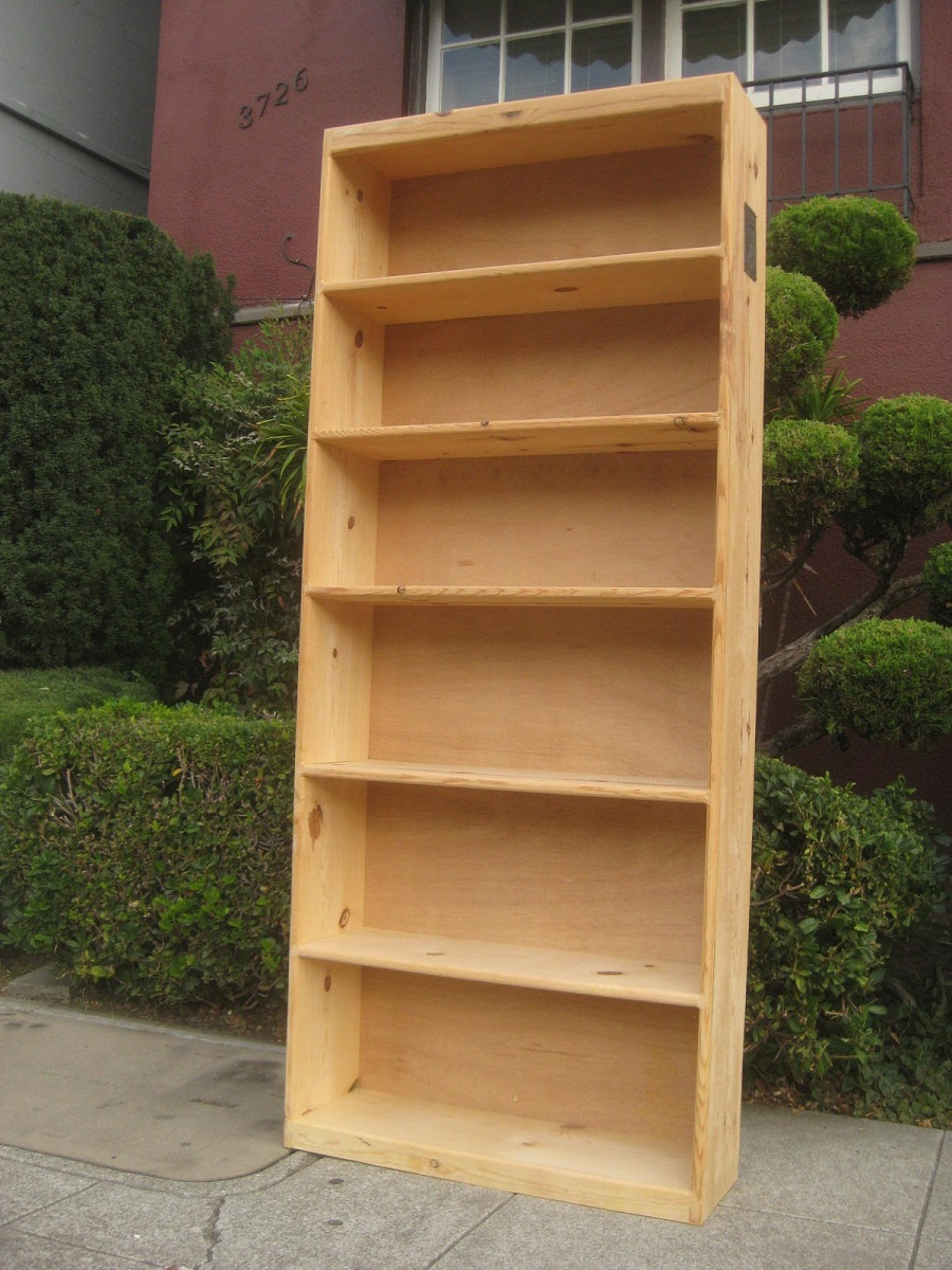 Image of: Wood Pine Bookcase