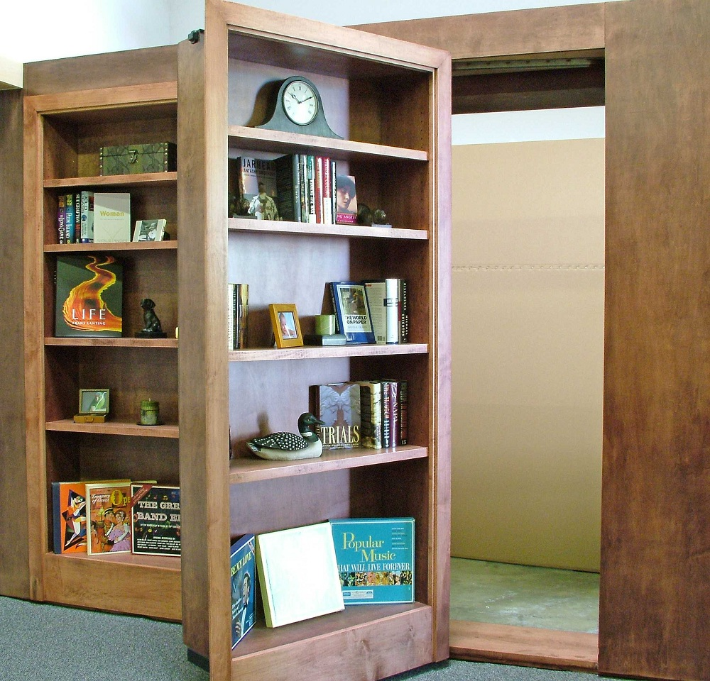 Wood Secret Bookcase Door