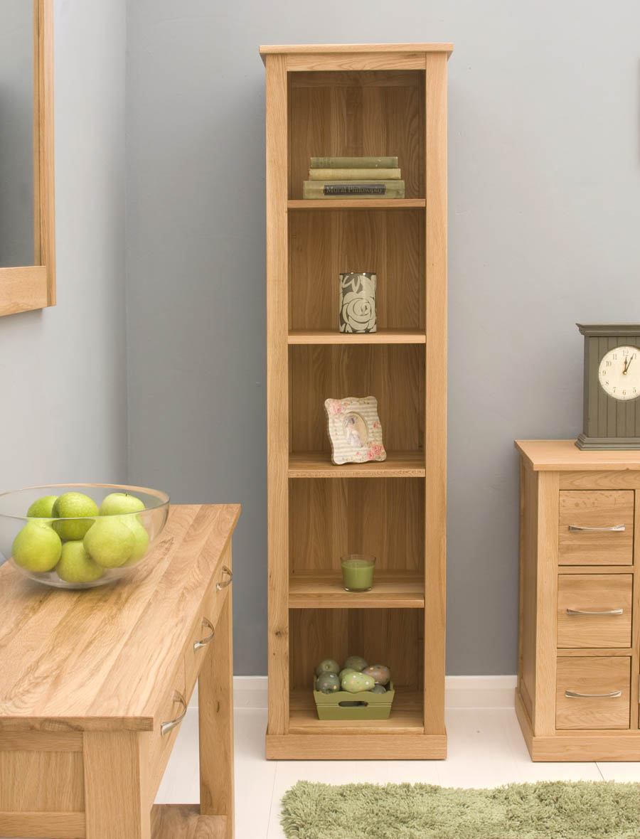 Wood Slim Bookcase