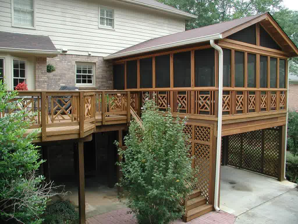 Image of: Wooden Covered Deck Designs
