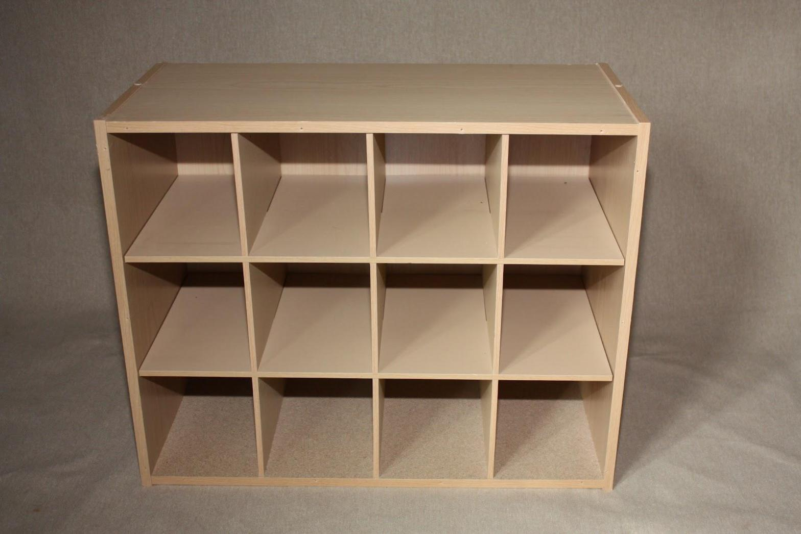 Image of: Wooden Cube Shelving Units