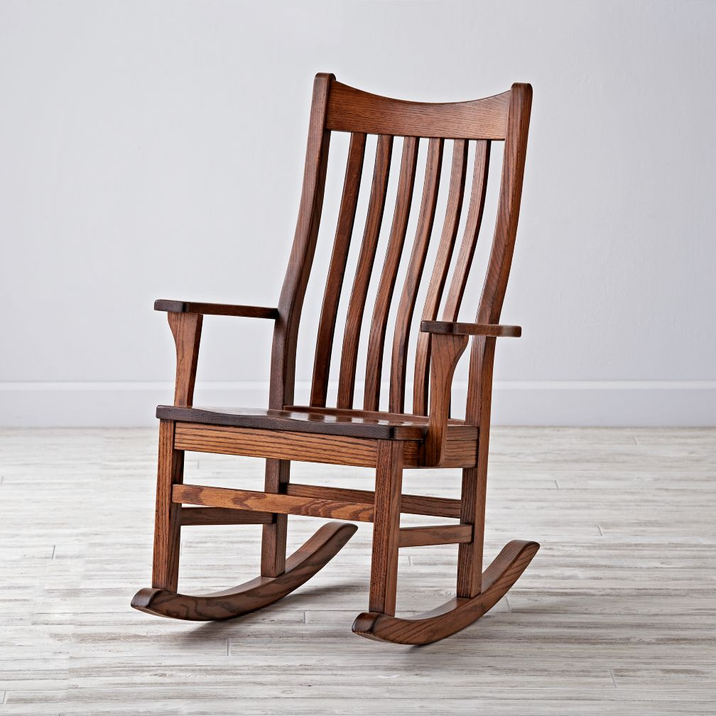 Image of: wooden glider rocking chair