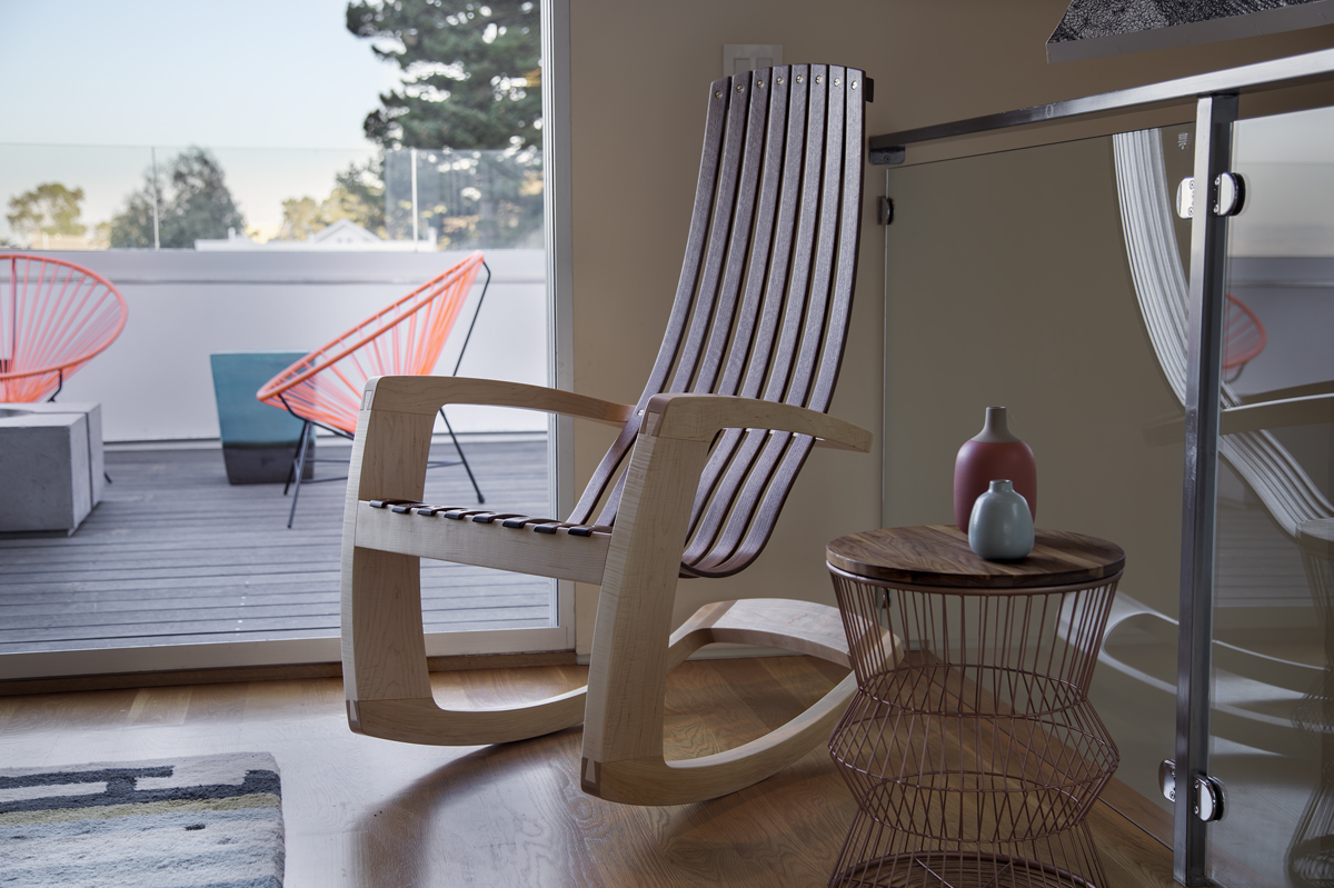Image of: Wooden Glider Rocking Chairs